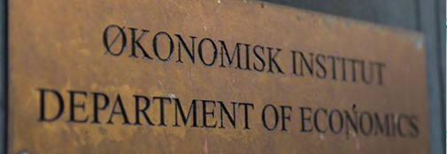 Door sign of the Department of Economics